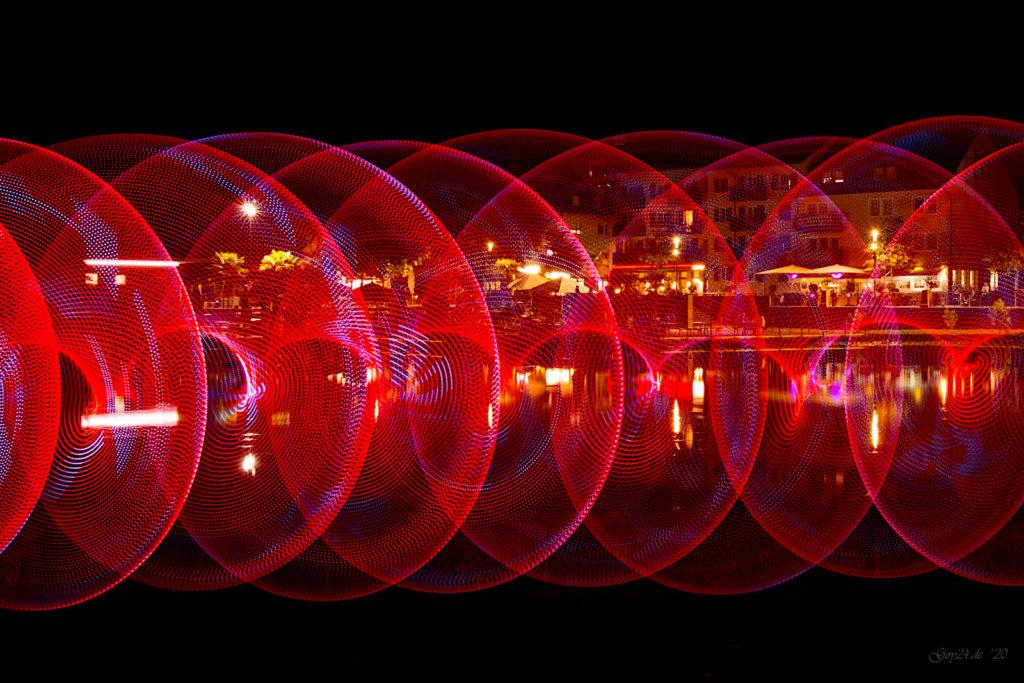 LED Hula-Hoop rot Kreise