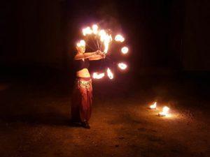 Feuershow-Variante Mittelalter